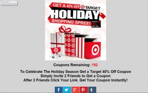 Target 40% Off Refer Two Friends Coupon