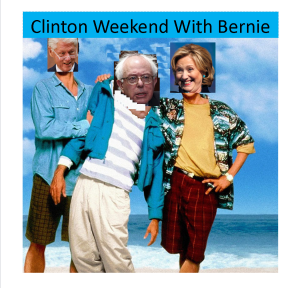 Clinton Weekend With Bernie