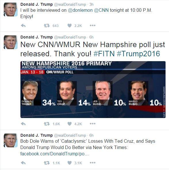 Trump Tweets About Mcgahn S Subpoena Presidential: What's In A Brand? Donald Trump, Ted Cruz, Hillary Clinton