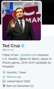 Ted Cruz Profile Pic and Bio