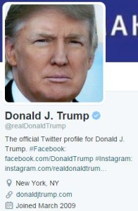 Trump Profile Pic and Bio