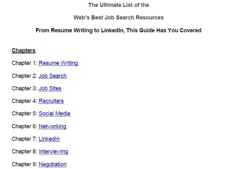Job Search: The Definitive Guide PDF Screenshot